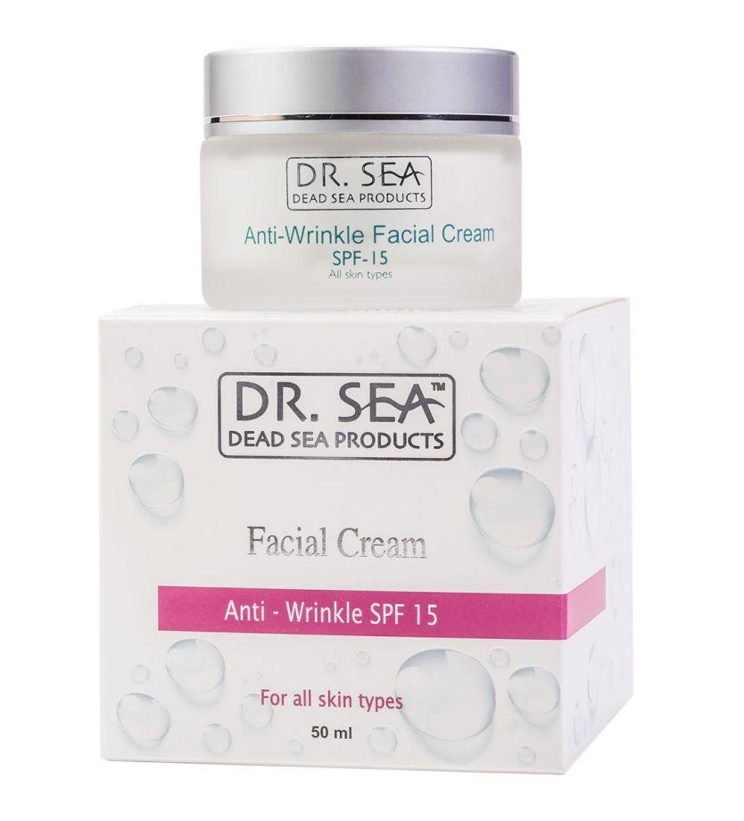 Крем для лица против морщин SPF 15 Dr.Sea (Доктор Си) 50 мл